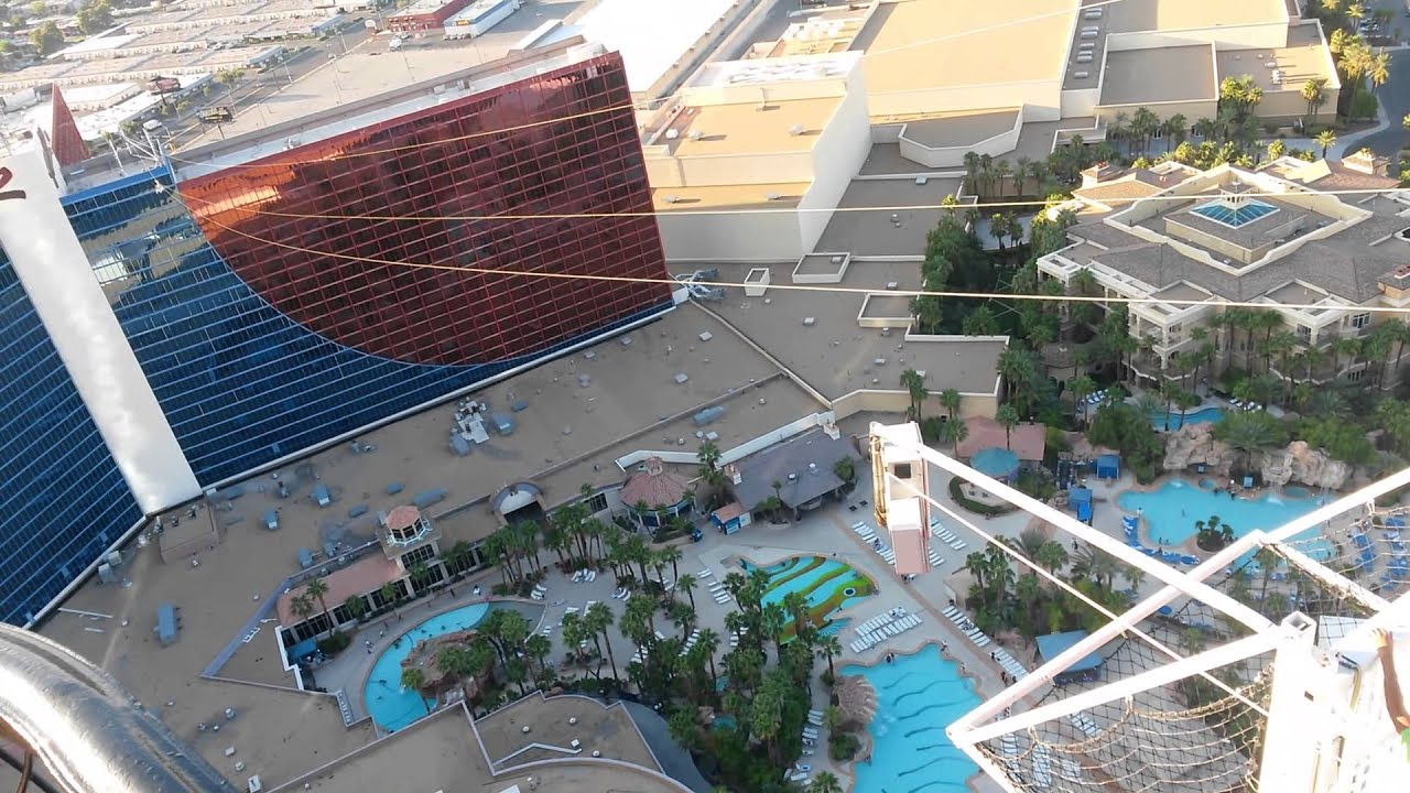 Zip Lining At The Rio In Las Vegas
