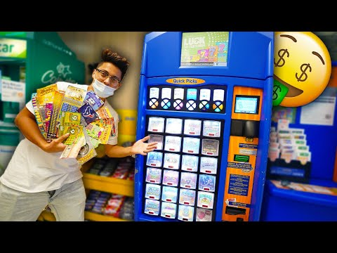 Buying EVERY Lottery Ticket From The LOTTERY VENDING MACHINE!! (JACKPOT!)