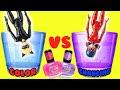 Miraculous Ladybug and Cat Noir DIY Color Changing Nail Polish Custom!! Crafts for Kids