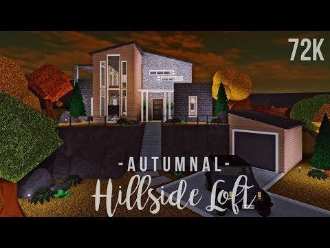 Bloxburg: Autumnal Hillside Loft 72K