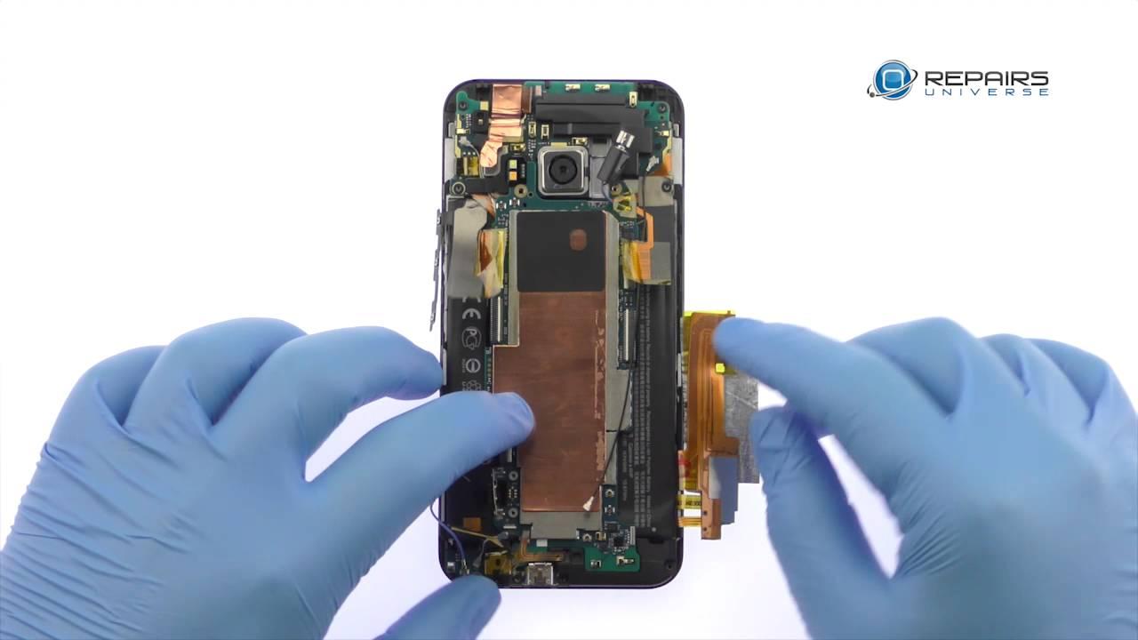 HTC One M9 - Замена LCD дисплея и сенсорного экрана