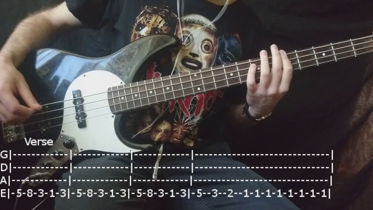 Marilyn Manson - Coma White Bass Cover (Tabs)