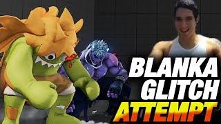 Blanka Player Attempts The Freeze Infinite Glitch