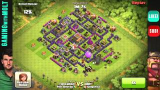 Repeat youtube video TH8 Defensive Replays - 9-0 - Flawless Defense