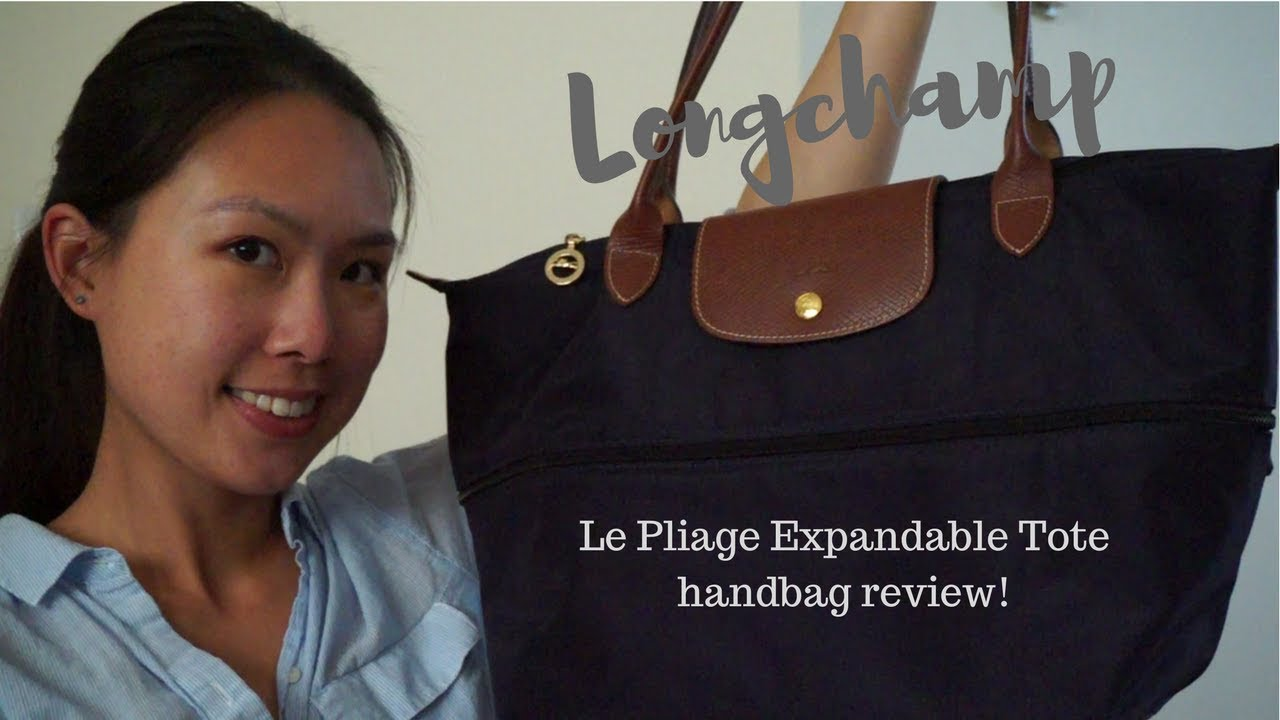 4e31d7a8c3d8 longchamp le pliage expandable tote review - YouTube