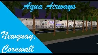 ROBLOX | Aqua Airways | A320 | Newquay | Dec 9 2016