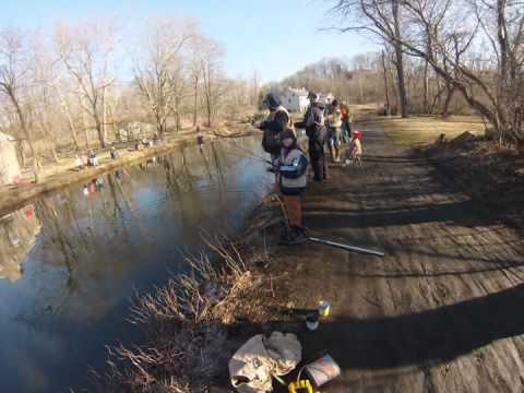 2013 Trout Fishing Freemansburg Canal