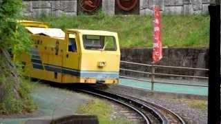 足尾銅山観光のラック式鉄道トロッコ列車