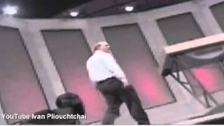 Steve Ballmer goes crazy at a Microsoft corporate event