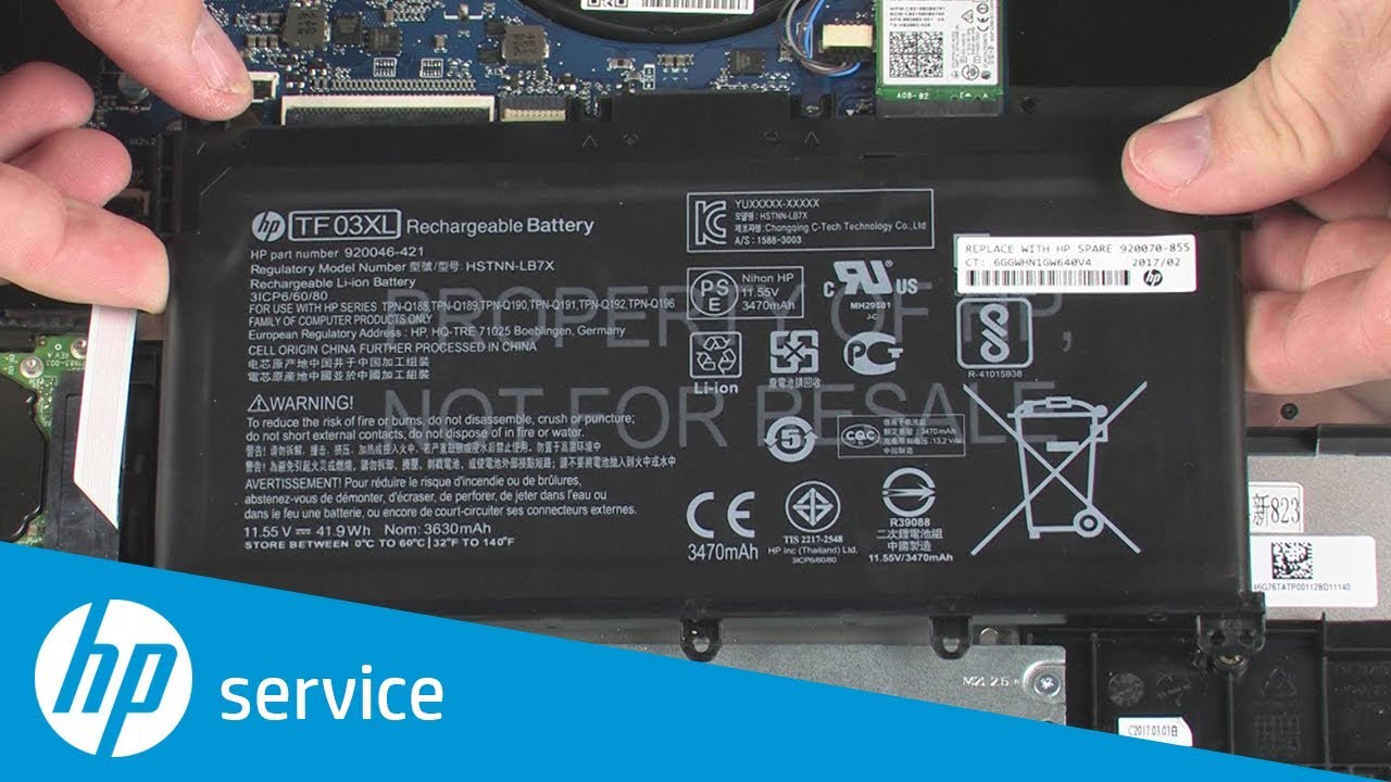 How to Remove the Battery | HP Pavilion 15-cc0xx and 15-cc5xx