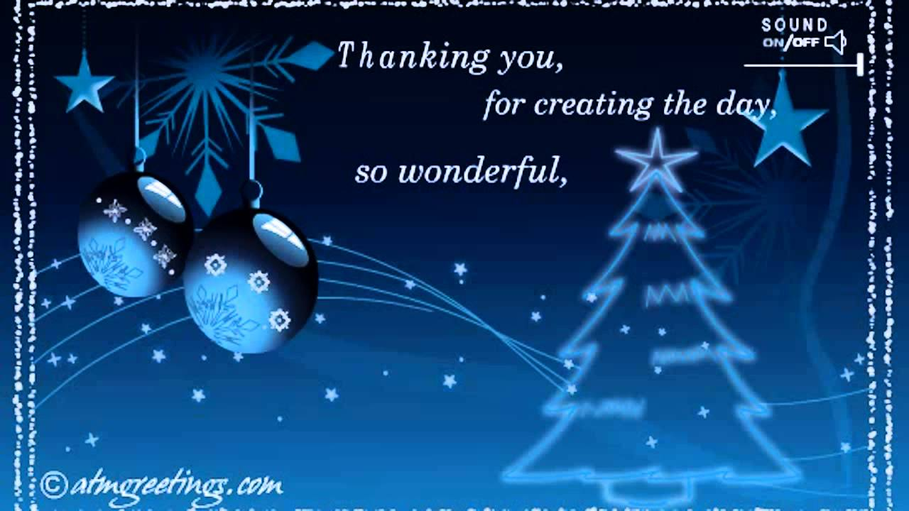Merry Christmas Thank You Ecards Wishes Greetings Card Video Messages   Youtube