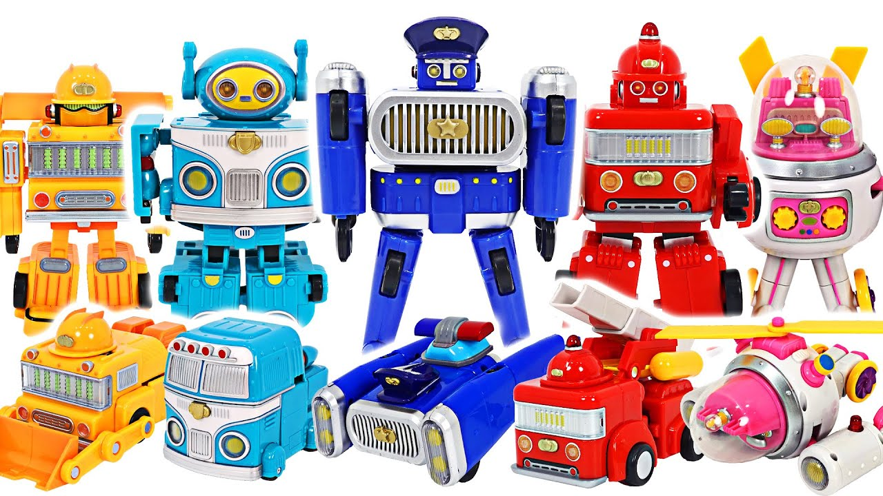 Galaxy Safety Corps Transformation Robot Fire truck Red, Police Car Blue! Go! | DuDuPopTOY
