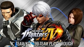 The King of Fighters XIV: K' Team/KOF '99 Team (K', Maxima & Whip) Playthrough (PS4) (720P/60FPS)