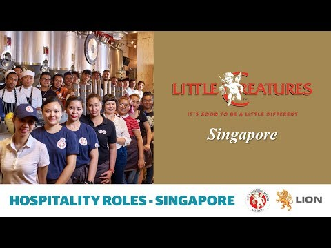 Little Creatures Singapore brewery - hospitality roles