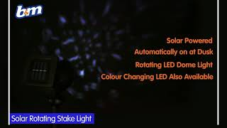 Solar Powered Rotating Stake Light - White | B&M Stores