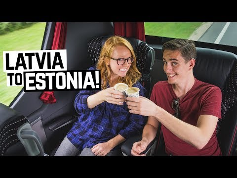 Accidentally Booked FIRST CLASS! (Bus Ride from Latvia to Estonia)