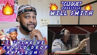 WILL SMITH CLIQUE FREESTYLE | REACTION | HIGH-KEY THIS IS FIRE