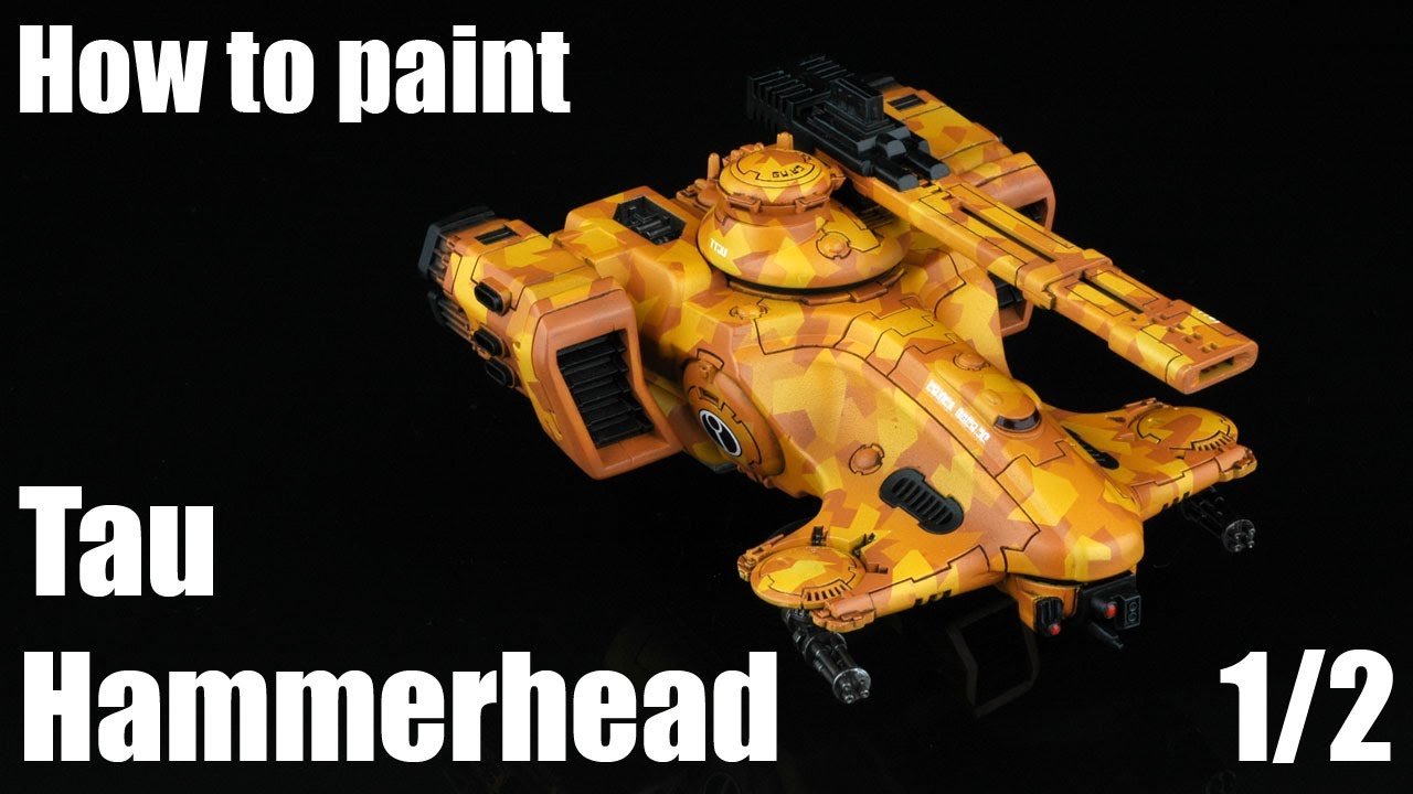 How to paint Tau Hammerhead Desert Camouflage 12  YouTube