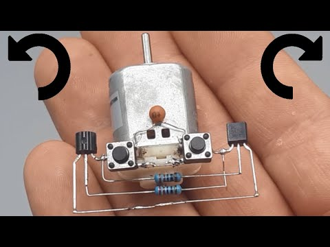 DC Motor Two Direction Control    Forward - Reverse    NEW ELECTRONIC PROJECT   