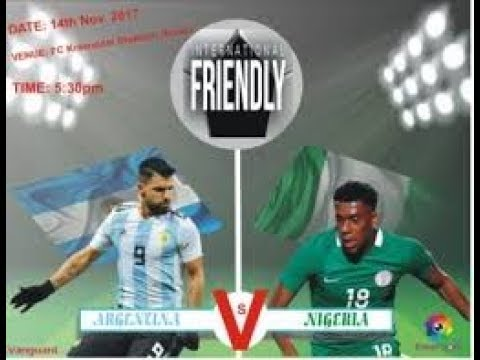Argentina vs Nigeria  2-4 Full Match live stream Friendly Ma