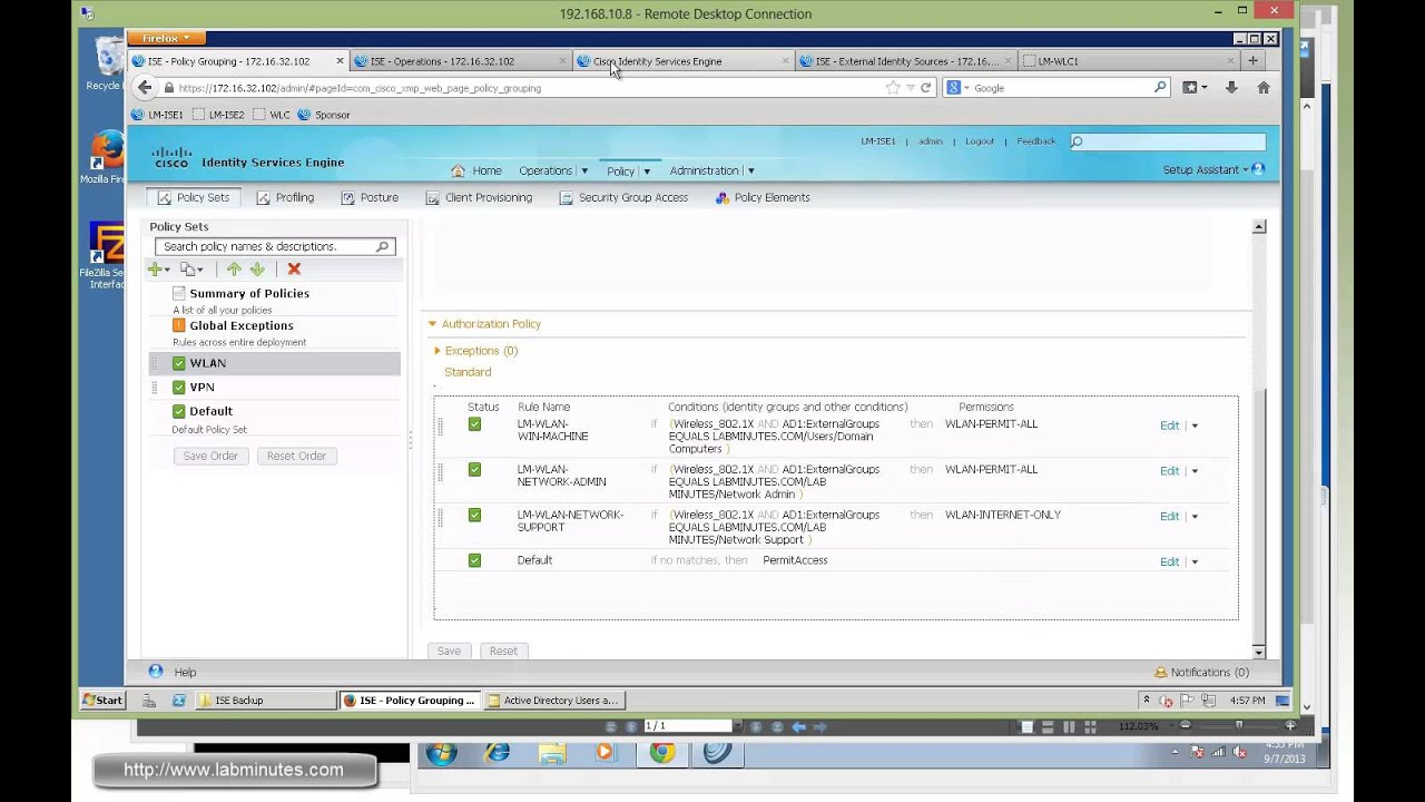 How to Configure Cisco ISE 1 2 Wireless 802 1X Authorization with
