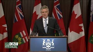 Minister Phillips releases Quarterly Fiscal Update at Queen's Park