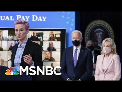 Bidens And Megan Rapinoe Mark Equal Pay Day | The 11th Hour | MSNBC