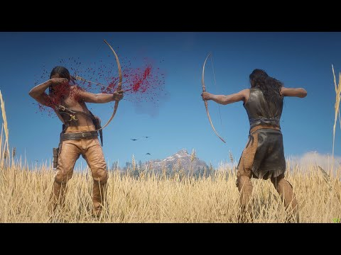 Native American WARS in Red Dead Redemption 2 PC |