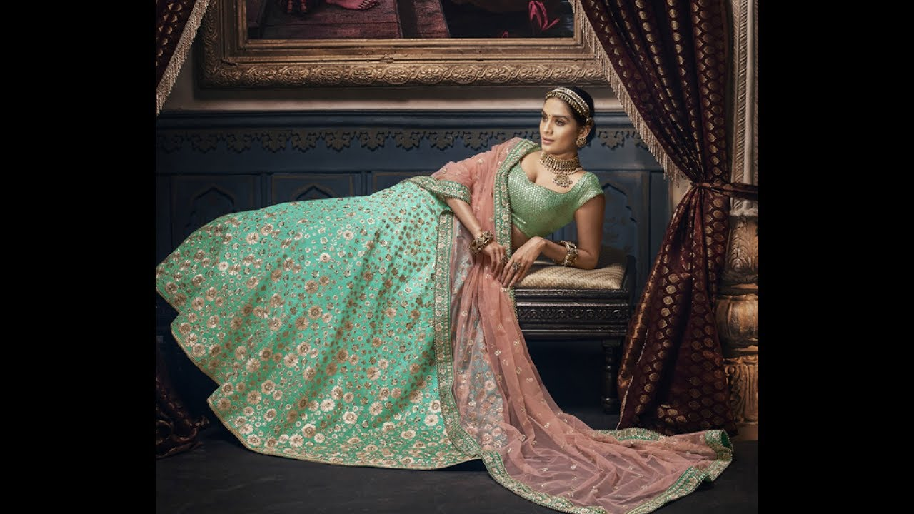 New Collection in Bridal Lehengas all under Rs 15000 by INDIWEAR