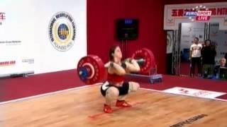 Женщины 75 кг Толчок ЧМ-2013