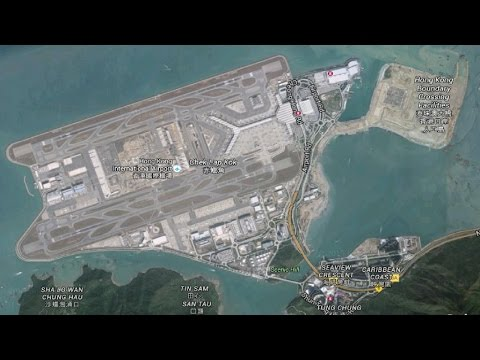 Landing at HongKong International Airport