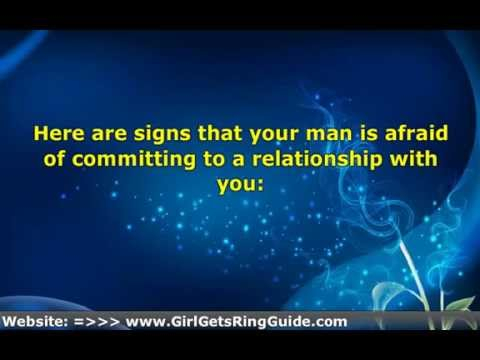 Afraid of commitment signs