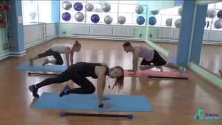 Силовая тренировка с бодибаром/Super sculpt/ Курочка Наталья(Обучающее видео по силовой аэробике от школы фитнеса