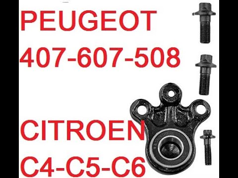 How To Replace Lower Ball Joint Peugeot 407 607 508 Citroen C4 C5 C6 how to Remove Replace DIY