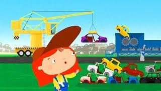 The car transporter & car dump. Construction vehicles with dr McWheelie. A family cartoon.