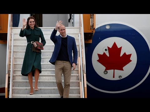 Prince William and Kate arrive in Whitehorse