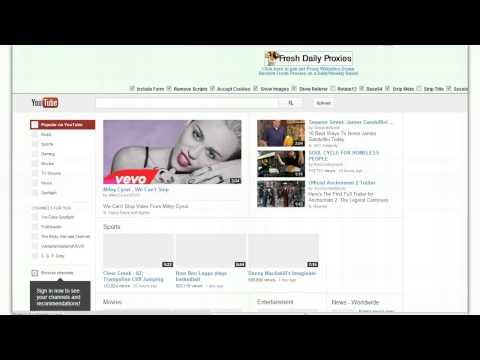 Youtube Proxy - FREE Youtube Proxies Surf Anonymously