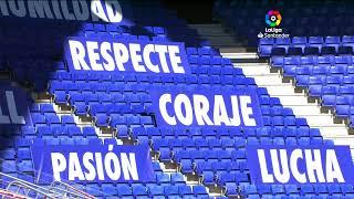 Calentamiento RCD Espanyol de Barcelona vs CD Leganés