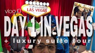 Vlog 10 - DAY 1 IN VEGAS!!! +LUXURY SUITE TOUR  // Chloe Michaela