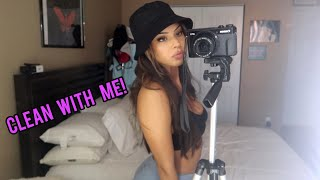 watch me CLEAN my room | vlog day