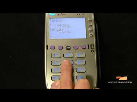 Credit Card Terminal Videos: Update Date and Time on Verifone