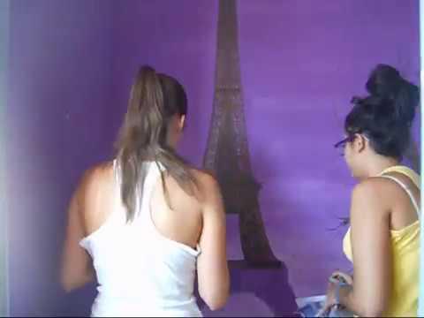 C mo hacer un mural paris torre eiffel youtube for Como dibujar un mural en la pared