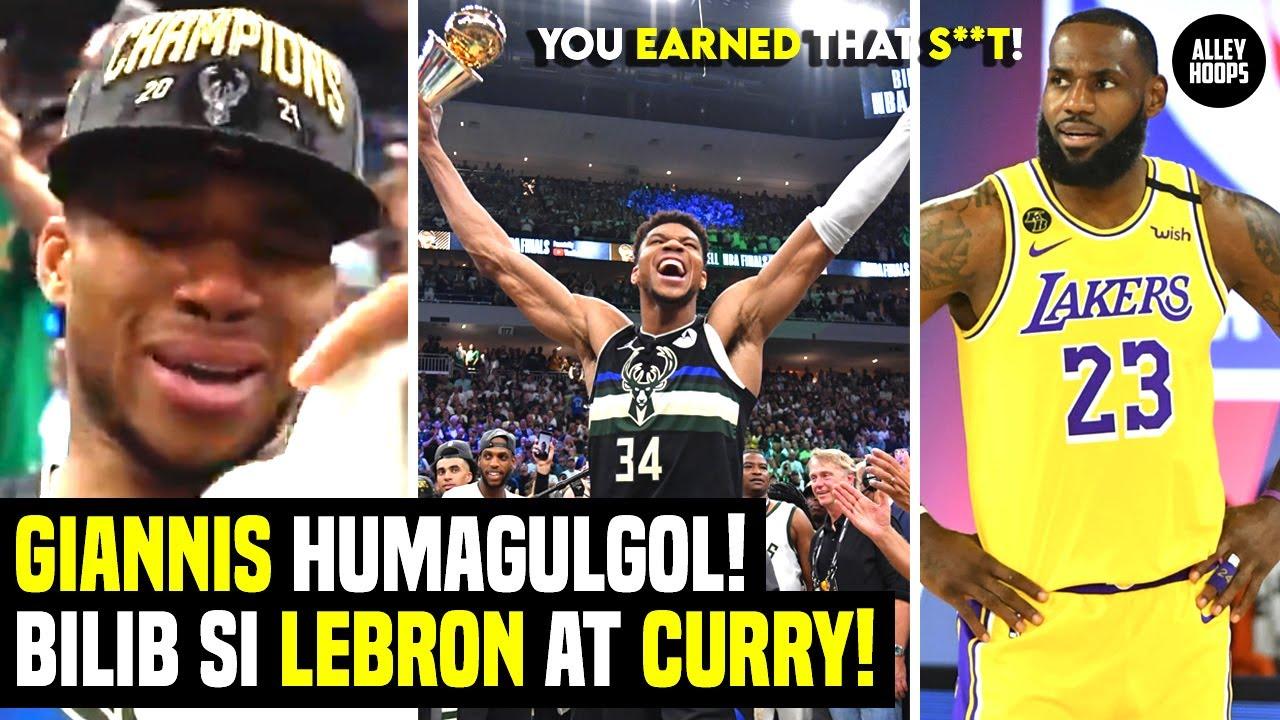 Giannis HUMAGULGOL ng IYAK! Lebron, Curry at Clarkson Humanga! Bucks in Six Nagkatotoo!