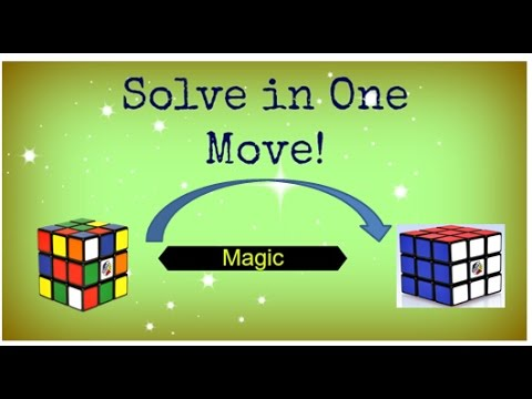 Solve 3*3*3 Rubik's Cube in One move! [Trick-1]
