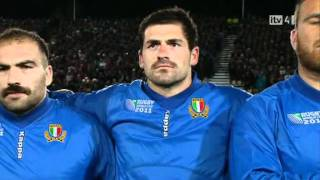 National Anthems  - Italy v Russia - Rugby World Cup 2011