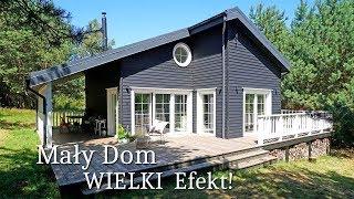 Mały parterowy DOM MARZEŃ 70 m2! Ile kosztuje eko dom AZYL w lesie? #Projekt domu styl skandynawski