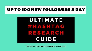 QUICKLY GROW YOUR INSTAGRAM in 2020 WITH THIS SIMPLE TOOL // BEST HASHTAG RESEARCH STRATEGY 2020