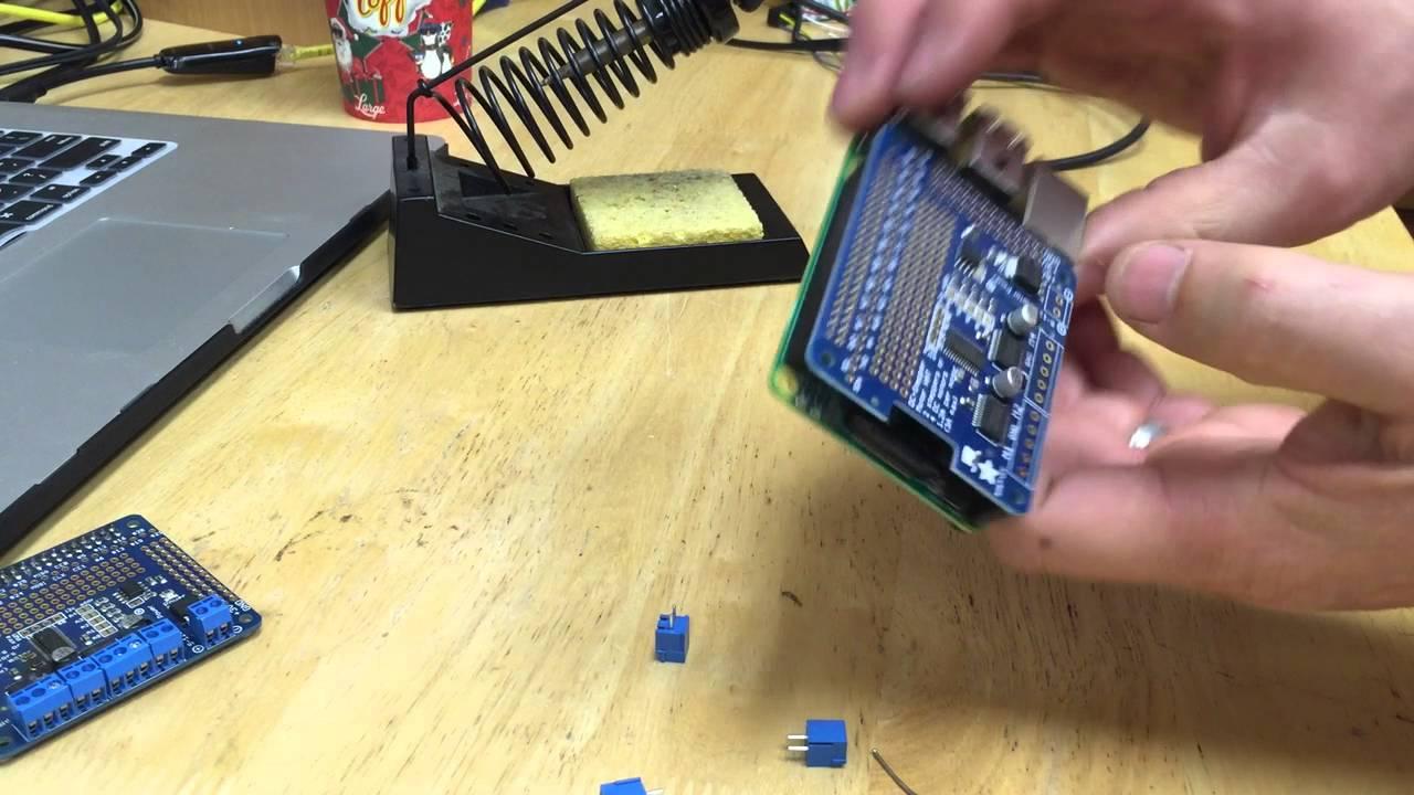 Soldering an Adafruit Raspberry Pi Stepper Motor HAT