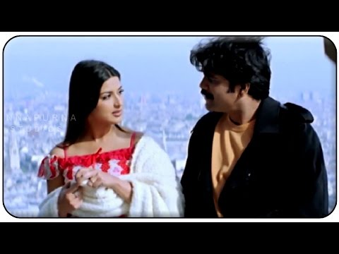 Nagarjuna & Soniali Bendre At Eiffel Tower Love Scene || Manmadhudu Movie