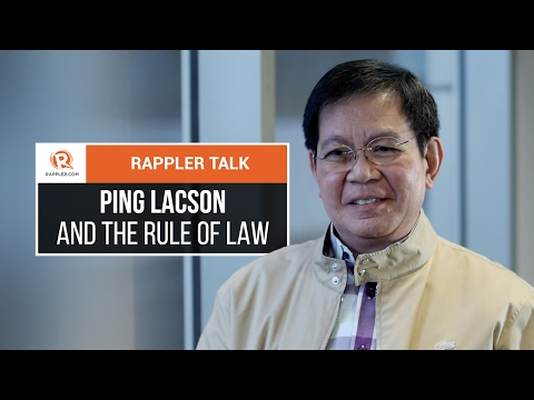 Rappler Talk: Ping Lacson and the rule of law